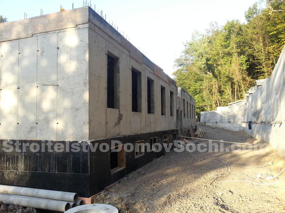 Монолитные ЖБ конструкции первого этажа