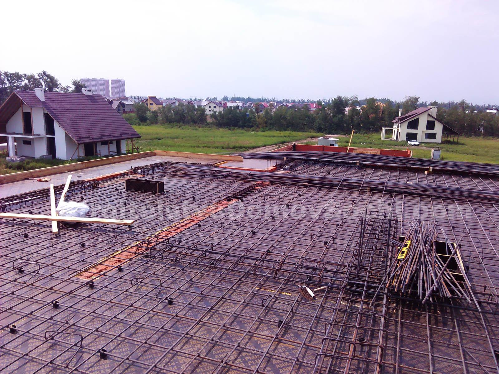 Армирование перекрытий второго этажа